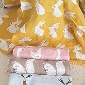 Tiny Alpaca Lot de 5 carr/és de mousseline bio faits /à la main pour b/éb/é 60 x 60 cm