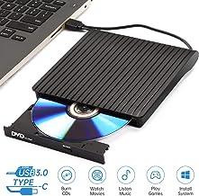 Lecteur DVD Externe, USB 3.0 Type C Double Port – AMIGIK Graveur CD Externe CD..