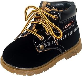 حذاء أطفال هابي تشيري للخريف مارتن حذاء أنيق من الجلد السويدي برباط حذاء لين مسطح حتى الكاحل