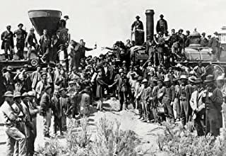 ArtParisienne When East Meets West Golden Spike at Promontory Point Utah 20x30 Poster Semi-Gloss Heavy Stock Paper Print