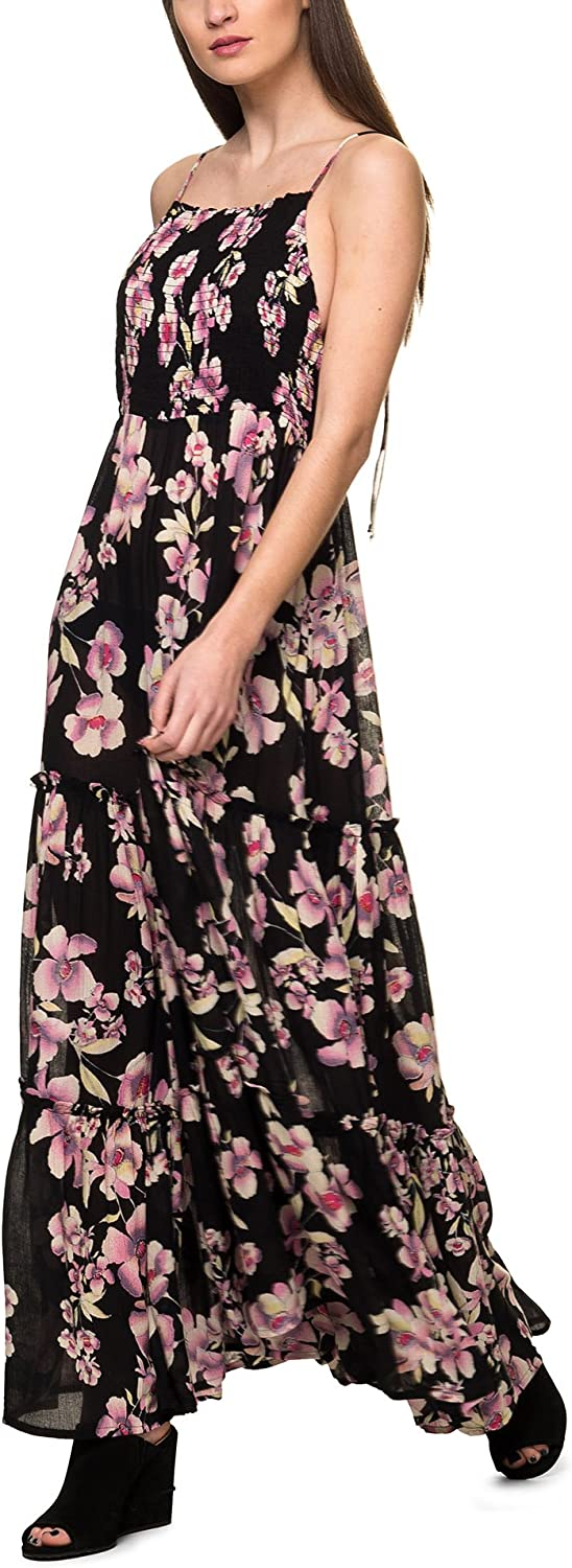 FREE PEOPLE Summer MAXI DRESS GARDEN PARTY Pink   Purple Floral Design