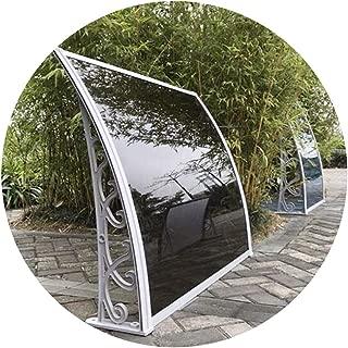 Nevy- Marquesina para Puertas Y Ventanas Tejadillo De Protección Toldo Exterior Toldo Impermeables Toldos para Patio con Soporte De Aleación De Aluminio 2 Colores (Color : Black, Size : 60cmx100cm)