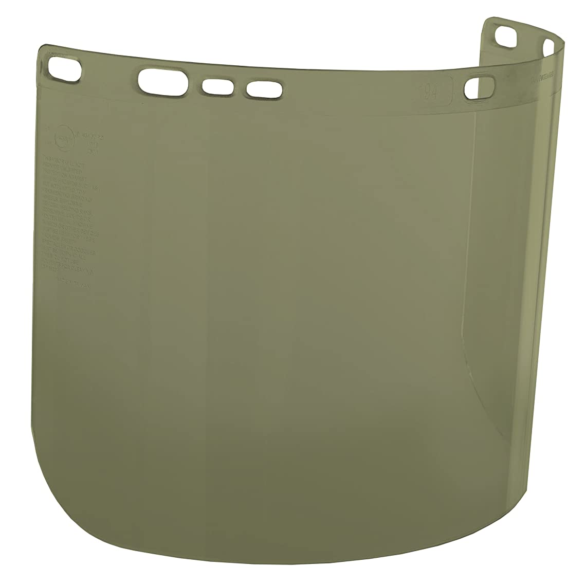 """Jackson Safety F20 High Impact Face Shield (29097), Polycarbonate, 8"""" x 15.5"""" x 0.04"""", Medium Green, Face Protection, Unbound, 36 Shields / Case"""