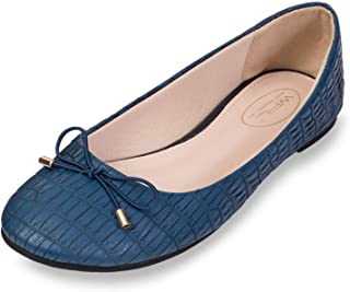 WFL Round Toe Women Flats Slip on Ballet Flats Shoes Soft