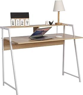 comprar comparacion WOLTU Escritorio de Computadora Mesa de Oficina Mesa de Trabajo PC Mesa de Ordenador Portátil, con Estante, Estructura de ...