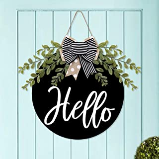 Metal Wreath Sign 12x6 EASTER Cute Sign For Deco Mesh Front Door Spring Floral Arrangements Home Decor Wreath Attachment Supplies