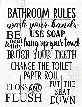 "Rustic Pallet Art Bathroom Rules Wooden Wall Hanging, 9""X12"" Decorative Plaque"