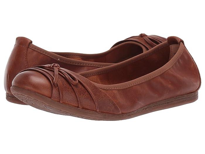 Born  Chelan (Tan Full Grain Leather) Womens Flat Shoes