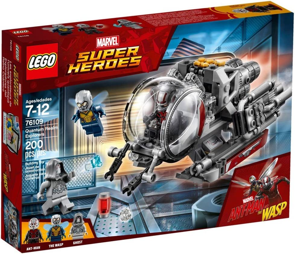 LEGO 76109 Marvel Super Heroes Recommended Explorer 1 year warranty Toy Quantum Vehicl Realm