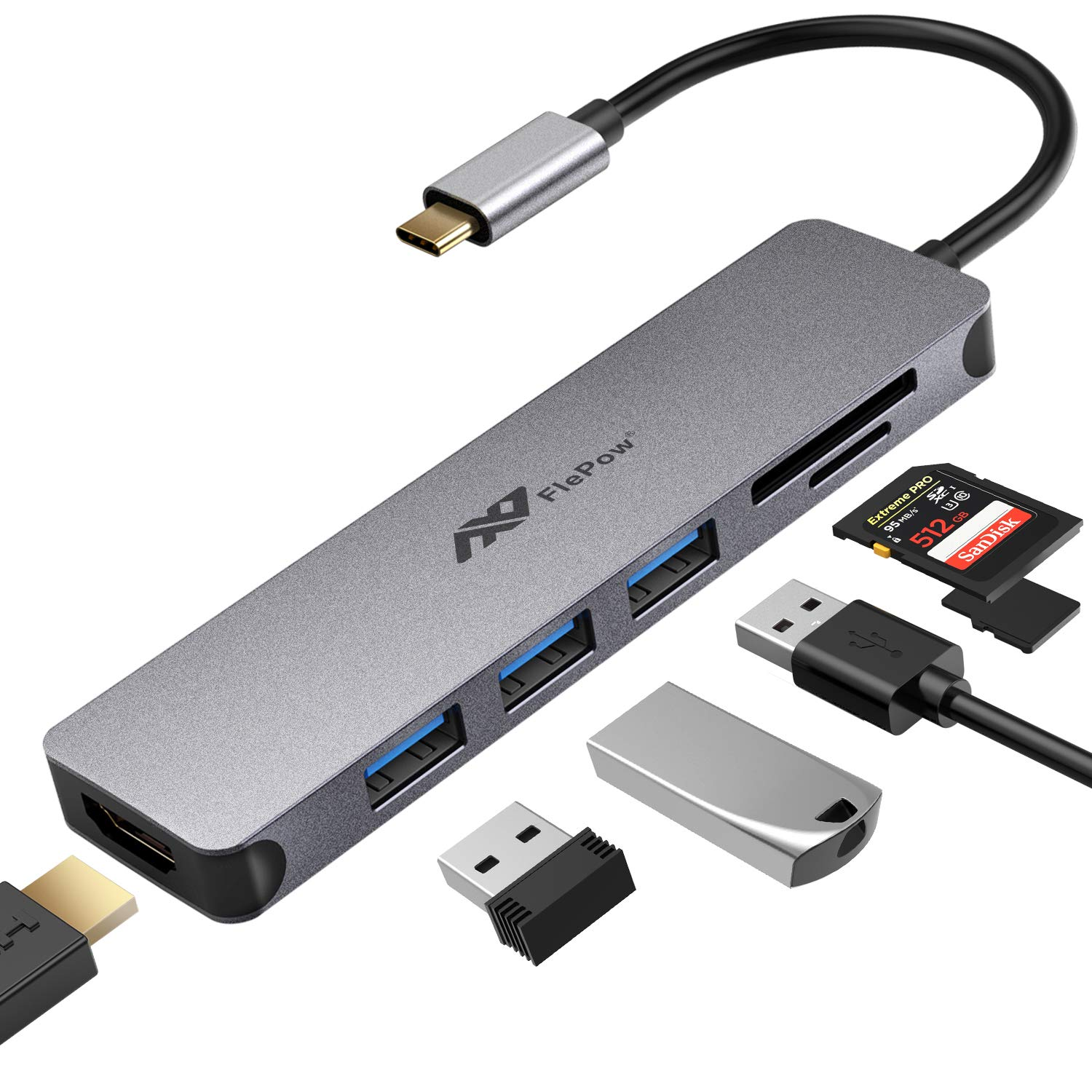 USB Hub Multiport Adapter Compatible