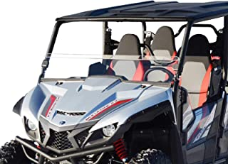 SuperATV Clear Standard Polycarbonate Half Windshield for Yamaha Wolverine X2 (2019+) - Installs in less than 5 minutes!