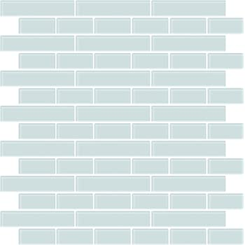 In Home NH2361 Sea Glass Peel & Stick Backsplash Tiles, Blue
