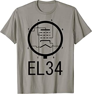 EL34 Vacuum Tube Valve Diagram T-shirt Guitar amplifier