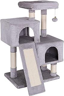 comprar comparacion Dibea Árbol rascador Árbol Escalador Árbol rascador Gatos Árbol para Gatos Altura 90 cm Color Gris Claro