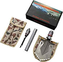 EASY BIG Military Shovel Portable Folding Shovel Army Surplus Multitool for Outdoor Camping, Hiking, Backpacking, Fishing, Trench Entrenching Tool, Car Emergency etc.