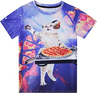 Boys Girls Casual T Shirt 3D Graphic Crewneck Short Sleeve Tops Tees 6-16 Years
