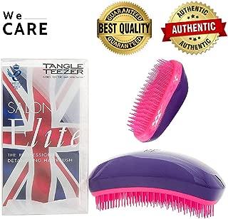WECARE Tangle Teezer Salon Elite Hair Brush, Purple Crush | Professional Wet & Dry Detangling Hairbrush