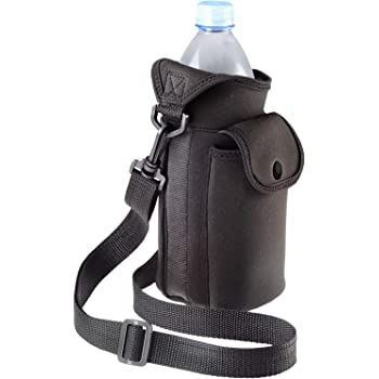 Black for Stainless Steel and Plastic Bottles Sport and Energy Drinks Barcley Water Bottle Carrier,Insulated Neoprene Water Bottle Holder Bag Case Pouch Cover 1000ML,Adjustable Shoulder Strap