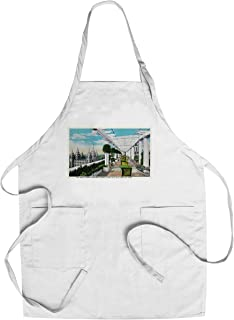 Salt Lake City, Utah - View of the Temple Towers from the Hotel Utah Roof Garden (Cotton/Polyester Chef's Apron)