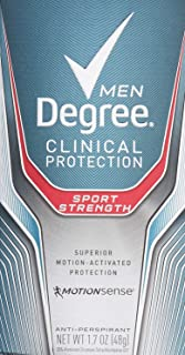 Degree Men Clinical Protection Sport Strength Antiperspirant & Deodorant, 1.7 Ounce, Pack of 3