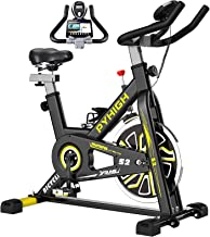 PYHIGH Indoor Cycling Bike Stationary Exercise Bike, Comfortable Seat Cushion, Ipad Holder with LCD Monitor for Home Cardi...