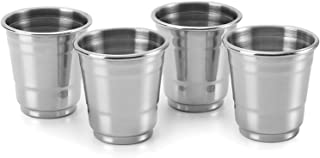 Outset 76426, Set of 4, 1-Ounce, Stainless Steel Shot Glasses