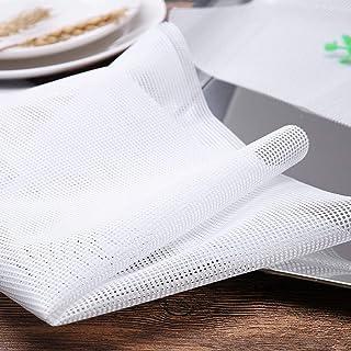 10 Pièces Anti-adhésif Tapis de silicone, Feuilles Déshydrateur Carrées en Silicone pour Séchoir à Fruits Déshydrateur Ali...