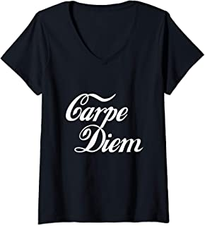 Womens Carpe Diem V-Neck T-Shirt