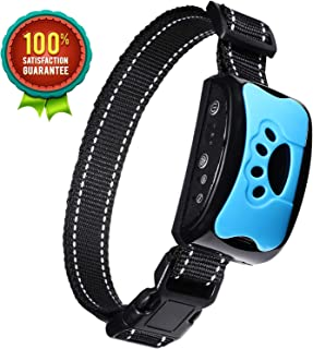 BOBOO Bark Collar [2019 Superhuman CHIP] Best for Small Medium Large Dogs, Most Effective Anti Bark Device 7 Sound and Vibro Modes, No Harmful Shock, No Pain for a Dog, Hypoallergenic