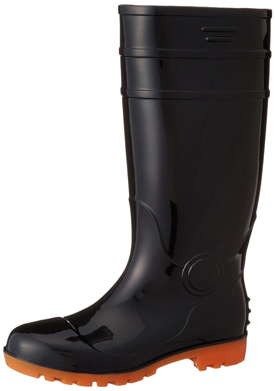 記念碑的な母音歴史的安全長靴 黒?白 耐油 ロング PVC 先芯入 8893 メンズ