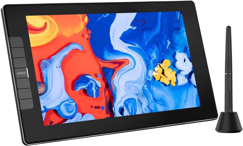 VEIKK VK1200 Drawing Tablet with Screen 11.6 inch Full-Laminated Art Tablet Graphic Tablet with Screen with Tilt Function Battery Free Stylus and 6 Shortcut Keys(8192 Levels Pen Pressure)