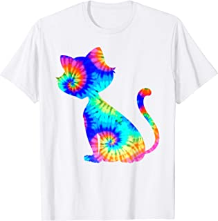Tie Dye Cat Shirt | Colorful Tye Dye Kitten T-Shirt