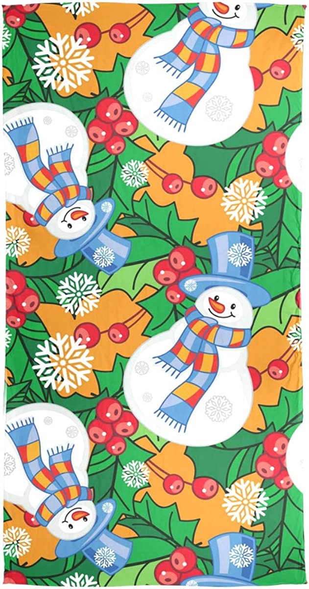AUUXVA Fashion Scarf Winter Funny Snowmen Snowflake Long Lightweight Sunscreen Scarf Shawl Wrap Muffler Neckerchief for Women Men