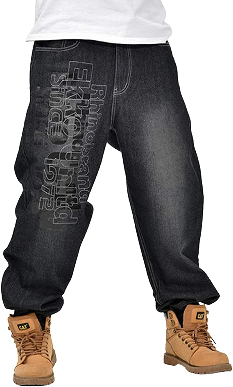 Ruiatoo Loose Fit Jeans for Men Outdoor Classic Baggy Limited time sale Denim Jean Bargain