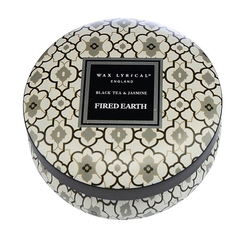 愛情深い所得喜ぶWAX LYRICAL ENGLAND FIRED EARTH 缶入りキャンドル ブラックティー&ジャスミン CNFE0804