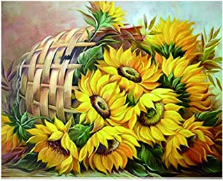 DIY Full Diamond Painting with Square Drills Paint with Diamonds Kits 5D Diamond Art for Wall Decor Diamond Art Canvas Sunflower