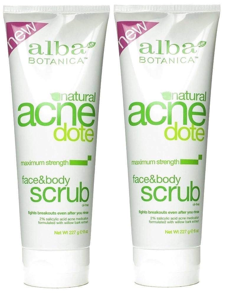 Alba Botanica ACNEdote Face & Body Scrub, 8 Ounces Tube (Pack of 2)