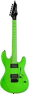 Dean Custom Zone Solid Body Electric Guitar, 2 Humbuckers Florescent Green