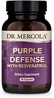 Dr. Mercola, Purple Defense with Resveratrol, 90 Servings (90 Capsules), Supports Memory and Concentration, Supports Immun...