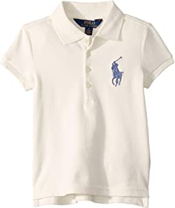 Big Pony Stretch Mesh Polo (Little Kids)