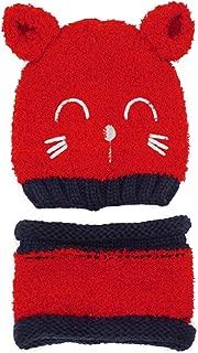 Baby Boy's Girl's Winter Warm Soft Crochet Beanie Hat Circle Scarf 2 Pieces Set