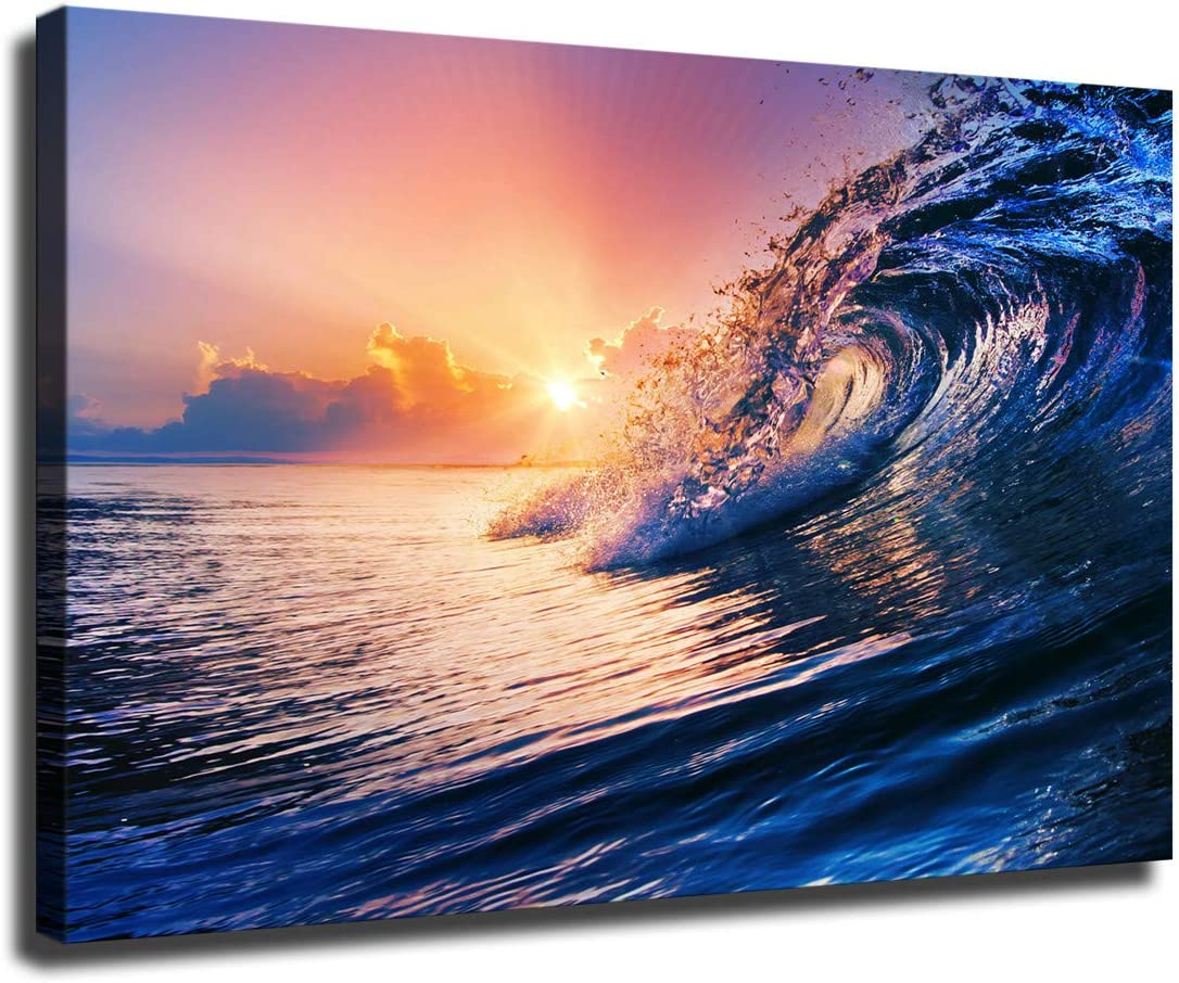 Free Shipping Cheap Bargain Gift Sea Waves and Water Minneapolis Mall Canvas Oil Holiday House Painting Prints