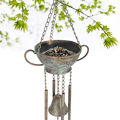 Kimdio Bird Feeders for Outside Wild Bird Feeder for Finch, Bell Seed Tray, Attractive & Long Lasting, Outdoor Garden Backyard Decorative Great for Attracting Pet Hummingbird Feeder with 5.7 inch