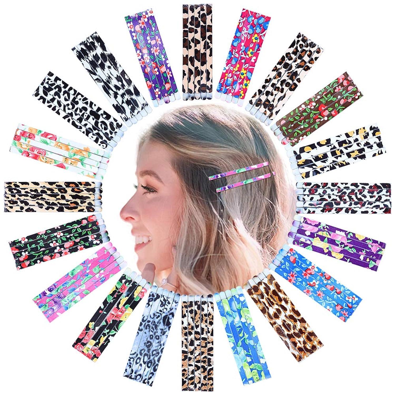 100 Pcs Hair Pins Multi Colored Bobby Pins Leopard Print Metal Hair Pins Hair Clips Hair Barrettes for Women