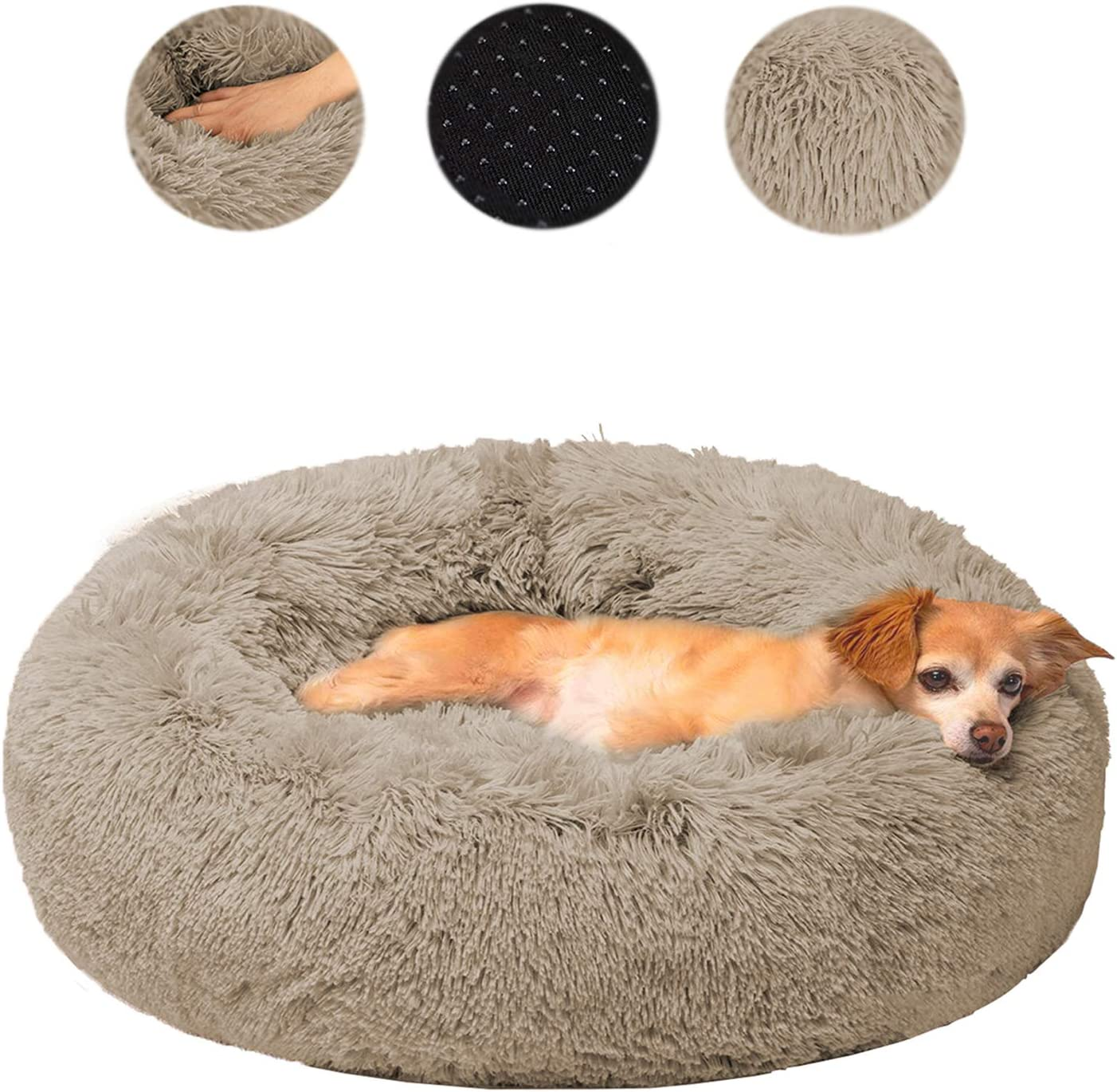 XIRGS Dog Max 41% Award-winning store OFF Calming Bed Orthopedic Soft Donut Cuddler Ultra Round