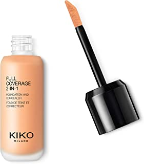 KIKO MILANO - Full Coverage Foundation and Concealer Liquid Foundation Makeup Innovative Formula Superior Coverage | Color...
