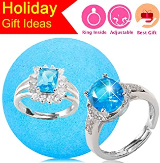 Jewelry Bath Bomb with Surprise Ring Prizes Inside One Size Fits All Rings Bubble Fizzies Bath Bombs Gift Set (5.3 Ounce)