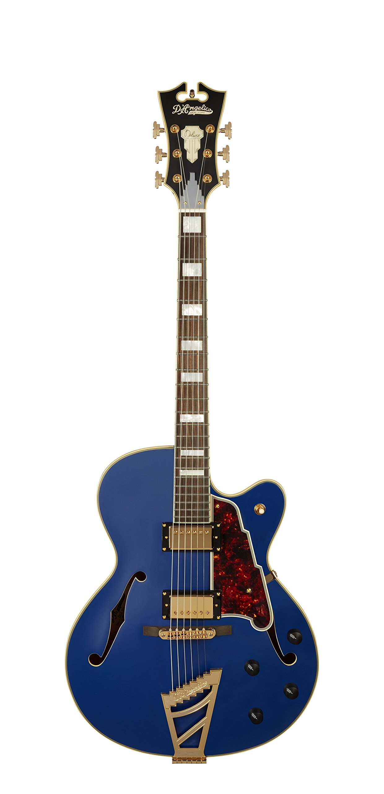 Cheap D Angelico Deluxe DH Hollow-Body Electric Guitar - Matte Royal Blue Black Friday & Cyber Monday 2019