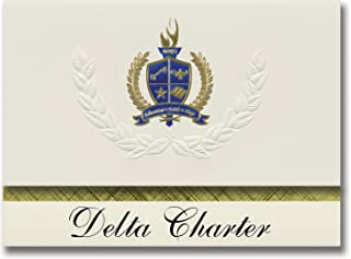 Signature Announcements Delta Charter (Aptos, CA) Graduation Announcements, Presidential style, Elite package of 25 with G...