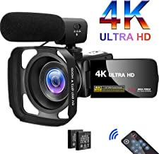 Sponsored Ad - Camcorder Video Camera 4K 30MP Digital Camcorder Camera with Microphone Ultra HD Vlogging Camera with Remot...